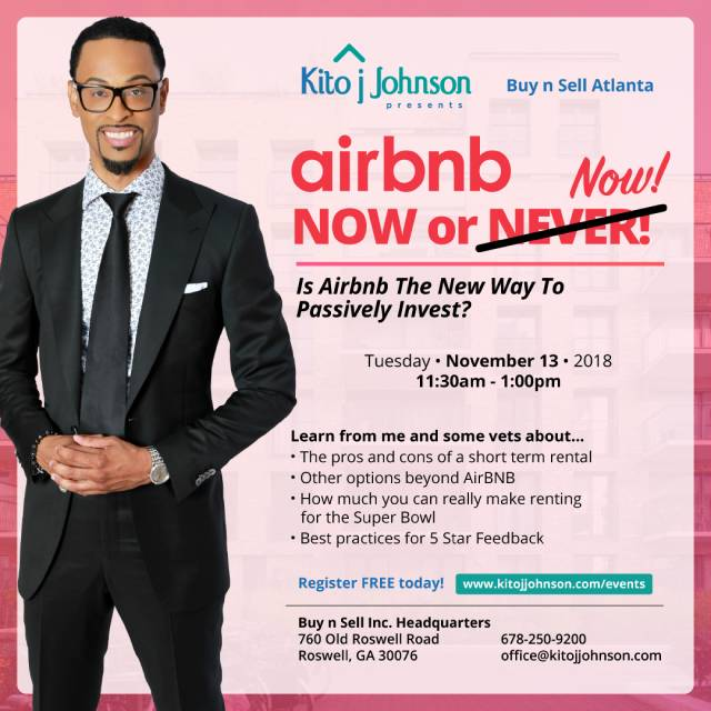 Airbnb Now or Now Kito Johnson
